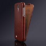 leather flip case open up and down